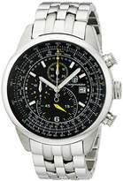 Burgmeister Melbourne Bm505-121 Gents Chronograph Stainless Steel Bracelet Black Dial Date Tachymeter