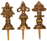 "Mark Roberts Finial 11"" Stocking Holders - Set of 3"