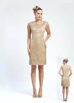 Sue Wong Floral Crochet Lace Sheath Dress N4441