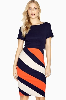 Paper Dolls Biarritz Diagonal Stripe Dress