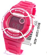 Casio Women's Baby-G BGD120P-4 Pink Resin Quartz Watch with Dial