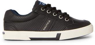 Nautica Kids Boys) Black Hull Perforated Low-Top Sneakers