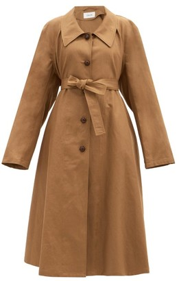 Lemaire Belted Cotton-blend Canvas Coat - Light Brown