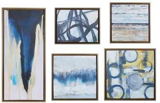 Madison Home USA Blue Bliss Gallery Art, 5-Piece Set