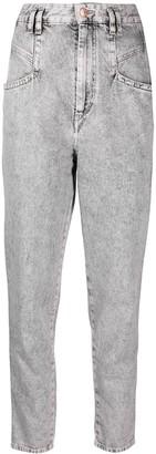 Isabel Marant Acid Wash Tapered Jeans