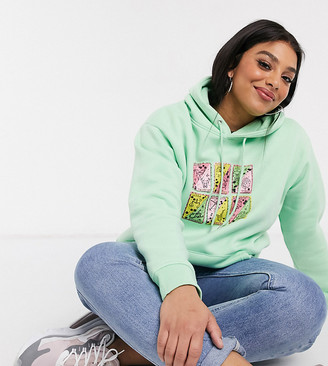 Daisy Street Plus oversized hoodie with astronomy graphic