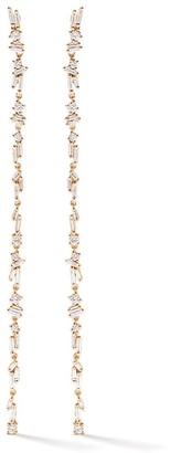 Suzanne Kalan 18kt rose gold Fireworks Sparkler Flexible diamond earrings