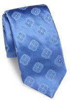 Ike Behar Floral Pattern Silk Tie