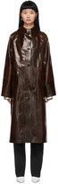 Kassl Editions Brown Coated Skai Trench Coat