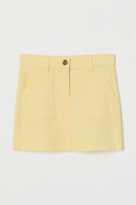 H&M Cotton Twill Skirt