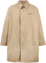 Palm Angels oversized trench coat - men - Cotton/polyurethane - 48