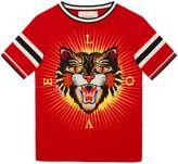 Gucci Children's cotton T-shirt with Angry Cat