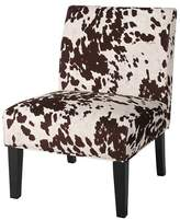 Christopher Knight Home Saloon Cowhide Print Dining Chair Milk Cow