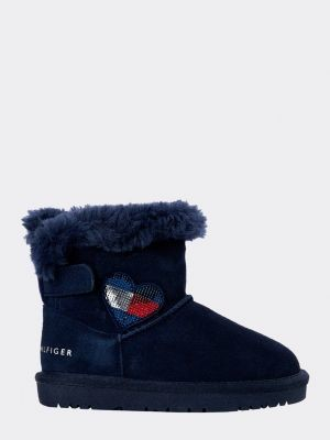Tommy Hilfiger Heart Faux Fur-Lined Boots