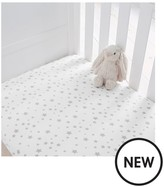 Silentnight Pack Of 2 Jersey Printed Stars Fitted Cot Bed Sheets