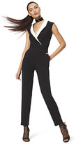 New York & Co. Collared Jumpsuit - Black & White