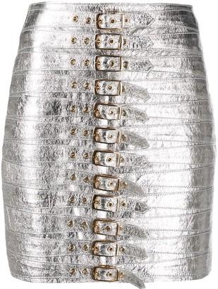Manokhi Metallic Pencil Skirt