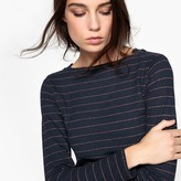La Redoute Collections Glitter Striped T-Shirt