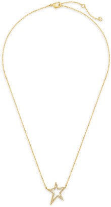 Sterling Forever 14K Gold Plated Sterling Silver CZ Star Necklace