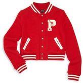 Ralph Lauren Girl's Long Sleeve Baseball Jacket