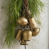 Viva Terra Gold Temple Bell Ornaments
