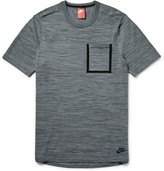 Nike Mélange Tech Knit Cotton-Blend T-Shirt