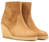 A.P.C. Suede Wedge Ankle Boots