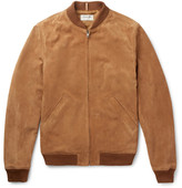 A.P.C. + Louis W The Ferris Suede Bomber Jacket - Camel