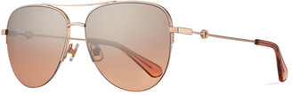 Kate Spade Maisie Stainless Steel Aviator Sunglasses, Pink