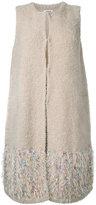 Coohem fancy fur knit vest