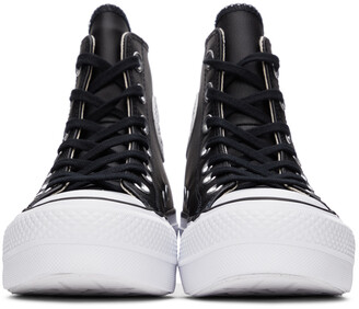 Converse Black Leather Chuck Taylor All Star Lift Hi Sneakers