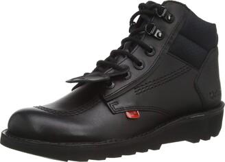 Kickers Men's Kick Hi Flex Black Leather Shoes