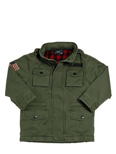 Ralph Lauren Hooded Cotton Canvas Field Jacket