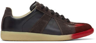 Maison Margiela Black and Red Replica Sneakers