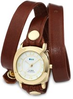 La Mer Women's LMODY005 Brown Gold Odyssey Wrap Watch