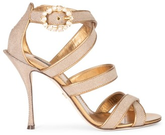 Dolce & Gabbana Embellished Metallic Sandals