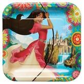 Disney Elena of Avalor Square Disposable Plates - 8ct
