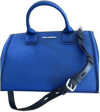 Karl Lagerfeld Paris Blue Leather Handbags