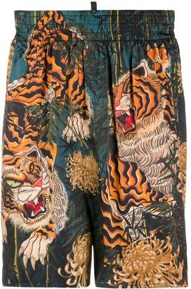 DSQUARED2 Tiger-Print Boxers