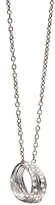 Michael Aram Sterling Silver Slide Palm Pendant Necklace with Diamonds, 16