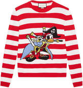 Gucci Intarsia wool sweater with Donald Duck pirate