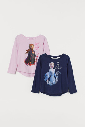H&M 2-pack Printed Tops - Blue