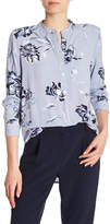 Joe Fresh Floral Stripe Print Blouse