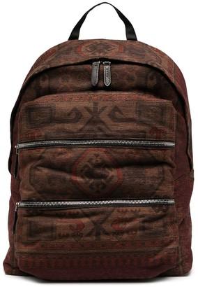 Etro Multi-Zip Printed Backpack