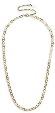 BaubleBar 14K Gold Plated Mariner Link Collar Necklace, 16-19
