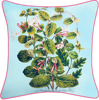 Nybg New York Botanical Garden Leafy Floral Indoor/Outdoor Square Throw Pillow