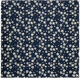Fairfax Men's Floral Silk Satin Pocket Square-NAVY, WHITE