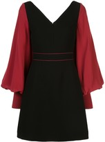 Roksanda balloon-sleeved two-tone dress