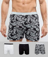 Asos Jersey Boxer In Baroque Print 3 Pack SAVE