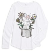 Stella McCartney Girl's 'Barley - Rabbit' Long Sleeve Graphic T-Shirt